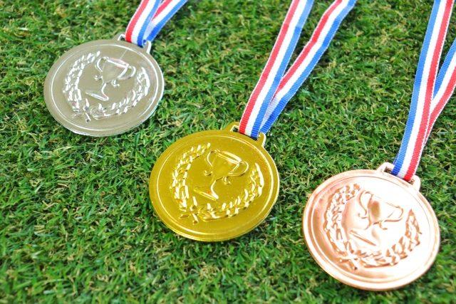 3種類のメダル